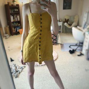 Socialite yellow mini dress